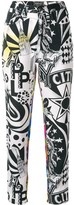 Versace Pre Owned New York printed trousers