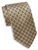 Saks Fifth Avenue Neat Diamond Silk Tie & Gift Box