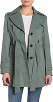 Via Spiga Double Breasted Water Repellent Trench Coat (Petite)