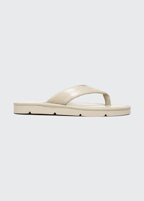 Vince Olexa Mock-Croc Thong Sandals