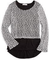 Pinc Premium Girls' Contrast Hem High Low Sweater - Sizes S-XL