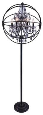 """Rosdorf Park Mendelson 71"""" Candelabra Floor Lamp Finish: Matted Black"""