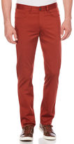 Perry Ellis Slim Fit Solid Sateen 5 Pocket Pant