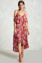 Forever 21 Open-Shoulder Flounce Dress