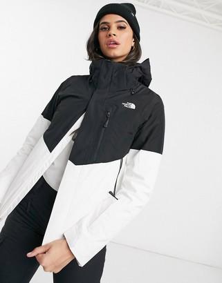 The North Face Garner triclimate ski jacket in white/black