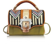 Paula Cademartori Dun Dun Multicolor Leather Satchel
