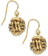 Lauren Ralph Lauren Gold-Tone Monkey Fist Knot Drop Earrings