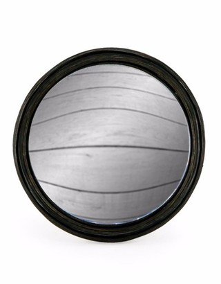 &Quirky - Black Thin Framed Large Convex Mirror