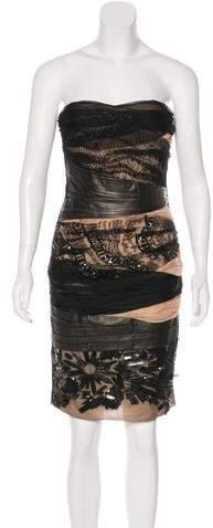 Valentino Strapless Embellished Dress