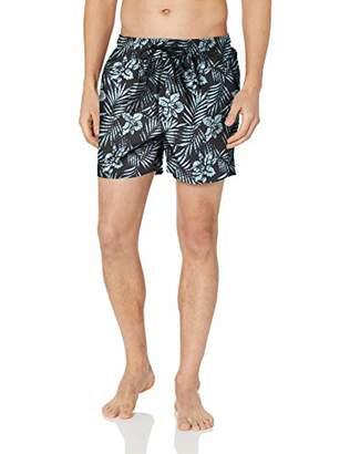 "Trunks 28 Palms Men's 4.5"" Inseam Tropical Hawaiian Print Swim Trunk"