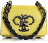 Emilio Pucci Chartreuse Leather Shoulder Bag w/Color Block Chain Strap