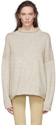 LAUREN MANOOGIAN Beige Bateau Rollneck Sweater