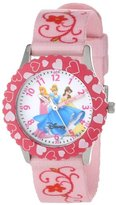 Disney Kids' W000049 Princess Stainless Steel Time Teacher Watch