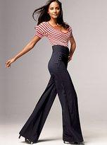 High-waist pant in seasonless stretch