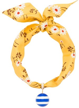 Miu Miu Embellished Scarf Necklace