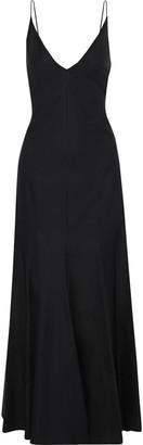 KHAITE Blair Pleated Cotton-poplin Maxi Dress