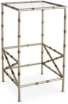 One Kings Lane Kirklees Bamboo Side Table - Silver - frame, champagne silver; glass, clear