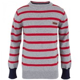 Ben Sherman Red Stripe Cotton Sweater