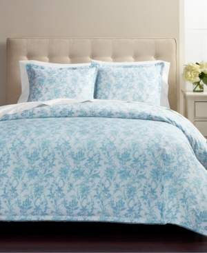 Martha Stewart Collection Floral Wave 3-Pc. Full/Queen Comforter Set, Created for Macys Bedding
