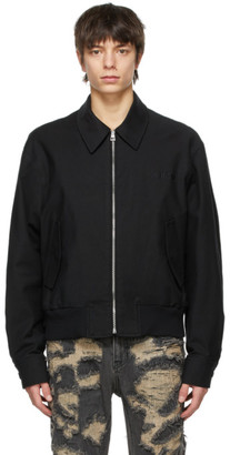 we11done Black Canvas Logo Jacket