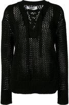 Derek Lam 10 Crosby laced neck jumper - women - Cotton - M