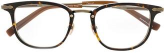 Eque.M Monday Rings Tortoise rectangle glasses