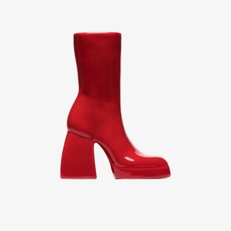 Anissa Kermiche X Nodaleto red Bulla Corta boot ceramic vase