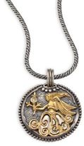 Konstantino Diamond, 18K Yellow Gold & Sterling Silver Zodiac Virgo Pendant