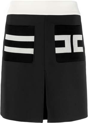 Elisabetta Franchi short logo skirt