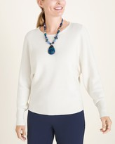 Chico's Chicos Crew-Neck Dolman-Sleeve Sweater