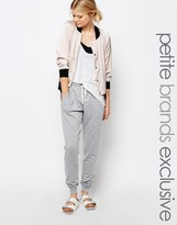 One Day Petite Jogger With Button Front Detail