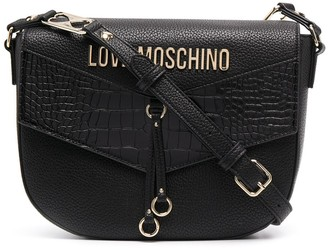 Love Moschino Contrast Panel Logo Plaque Satchel Bag