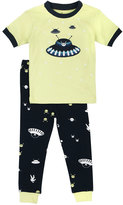 Petit Lem Alien Top & Pants Pajama Set, Lime, Size 2-4T