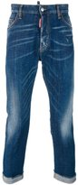 DSQUARED2 cropped jeans - men - Cotton/Calf Leather/Polyester/Spandex/Elastane - 48