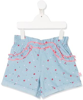 Billieblush Printed Chambray Shorts