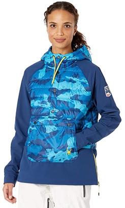 Spyder USST Glissade Hybrid Anorak Insulator Jacket (Blue Camo) Women's Coat