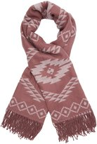 Charlotte Russe Aztec Fringed Scarf