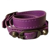 Balenciaga Triple wrap leather bracelet