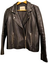 American Vintage Black Leather Leather Jacket for Women