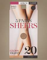 Marks and Spencer 5 Pair Pack 20 Denier Tights