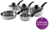 Tower 5-piece Stainless Steel Pan Set