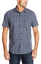 Nautica Men's Wrinkle Resistant Plaid Short Sleeve Pocket Shirt