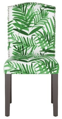 Skyline Furniture Cotton Parsons Chair Upholstery: Palm Green Floral