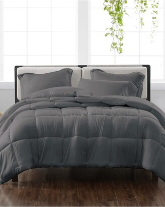 Cannon Solid Grey 3Pc Comforter Set