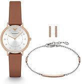 Emporio Armani Watch, Earrings & Bracelet Gift Set