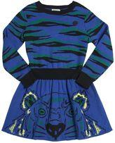 Kenzo Cotton & Wool Jacquard Sweater Dress