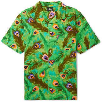 Stussy Camp-Collar Printed Brushed-Cotton Shirt
