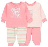 George Disney Bambi 2 Pack Pyjamas