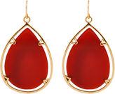 Barse FINE JEWELRY Art Smith by Red Glass Large Teardrop Earrings