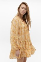 Free People Free Swinging Floral Mini Dress - yellow XS at Urban Outfitters